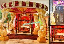 Unique Srilankan Peacock FRP Wedding Mandap