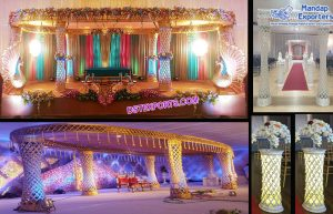 Unique Wedding Diamond Plazzo Mandap LA