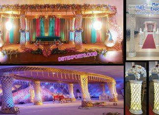 Unique Wedding Diamond Plazzo Mandap LA