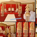 Unique Wedding Triple Pole FRP Mandap