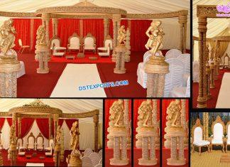 Unique Wedding Triple Pole FRP Mandap