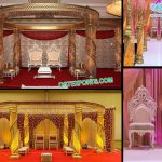 Wedding Fiber Crystal Spiral Mandap Fiji