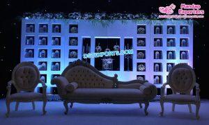 Wedding Stage Jhrokha Candle Back Walls