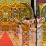 Amazing Srilankan Wedding Peacock Aisle Decoration