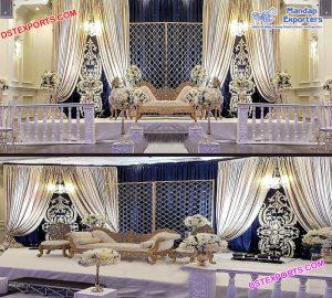 Amazing Wedding Reception Night Stage Decor