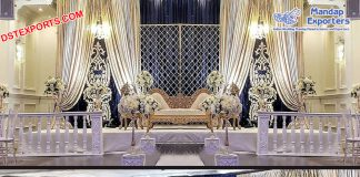 Amazing Wedding Reception Night Stage Decor