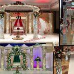 Stylish Wedding Lighted Fiber Crystal Mandap