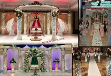 Stylish Wedding Lighted Fiber Crystal Mandap
