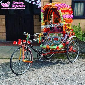 Bride Groom Photo Booth Rickshaw Decoration