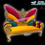Designer Colorful Butterfly Wedding Sofa