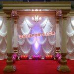 Elegant White Roman Lotus Wedding Mandap