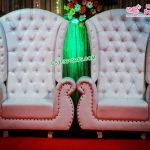 European Style Leather Throne Wedding Chairs