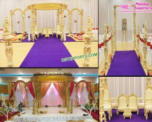 Fabulous Designer Wedding Wood Mandap