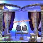 Fusion Butterfly Crystal Wedding Mandap