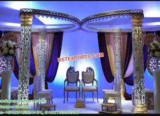 Fusion Butterfly Crystal Wedding Mandap