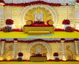 Ganesha Theme South Indian Wedding Stage Singapour
