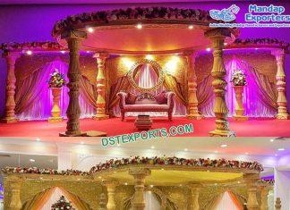 Glamorous Indian Wedding Fiber Decorative Mandap