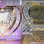 Heart Shape Wedding Backdrop Metal Props