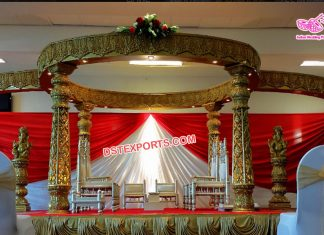 Inspirational Golden Wedding Mandap For Sale
