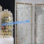 Low-Cost Metallic Wedding Backdrops Decor