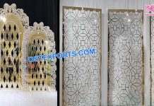 Low-Cost Metallic Wedding Backdrops Decor