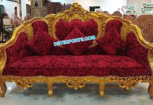 Luxurious Golden Crown King Throne Sofa
