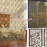 Modern Wedding Golden Metal Back-Frames