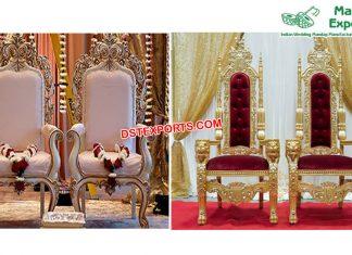 Modern Wedding Reception Throne Chairs