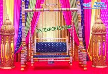 Muslim Wedding Stage Moroccan Lamps Decoration