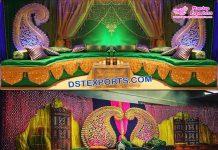 Pakistani Nikah Mehndi Stage Decoration