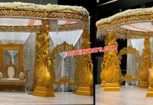 Srilankan Peacock Theme Wedding Mandap Paris