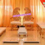 Stylish Wedding Leaf Style Vedi Chairs