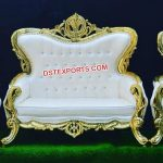 Stylish Wooden Handicraft Wedding Sofa Set