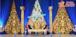 Traditional Golden Back Frames For Wedding