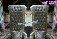 VIP Wedding Silver King Throne Chairs