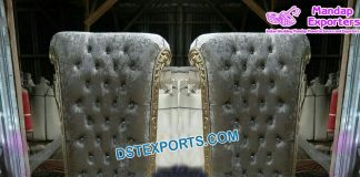 VIP Wedding Silver King Throne Chairs