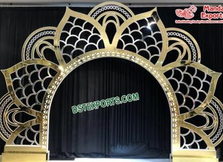 Wholesale Lotus Shaped Wedding Metal Backdrop