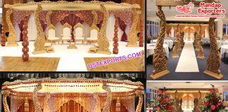 Aesthetic Wedding Antique Carved Mandap