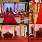 Amazing Wedding Golden Decorative Mandap