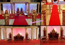 Amazing Wedding Golden Decorative Mandap