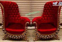 Classical Vintage Wedding Bride Groom Chairs