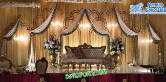 Fancy Metal Backdrops For Wedding Stage
