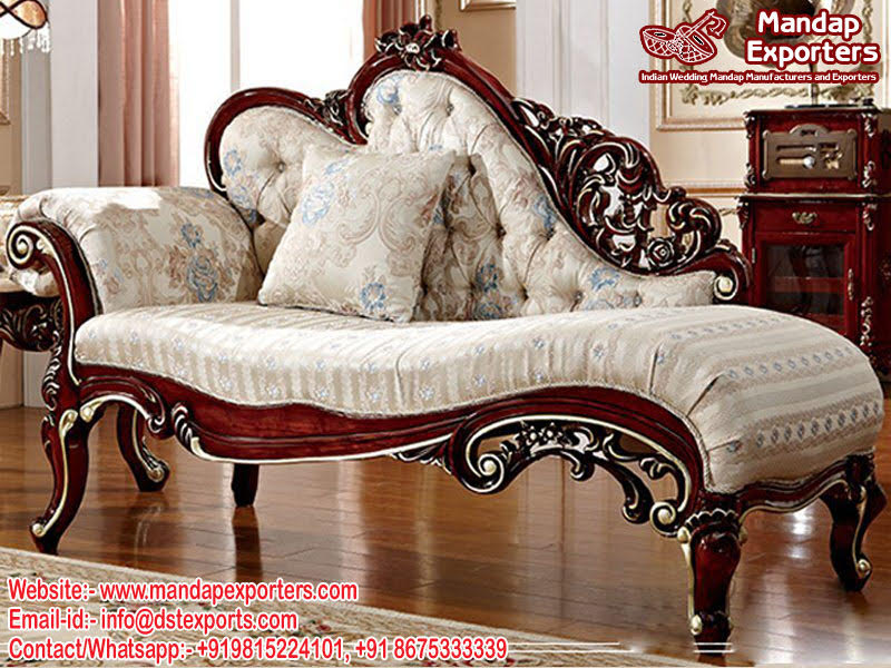 French Baroque Bedroom Chaise Lounge Couch Mandap Exporters