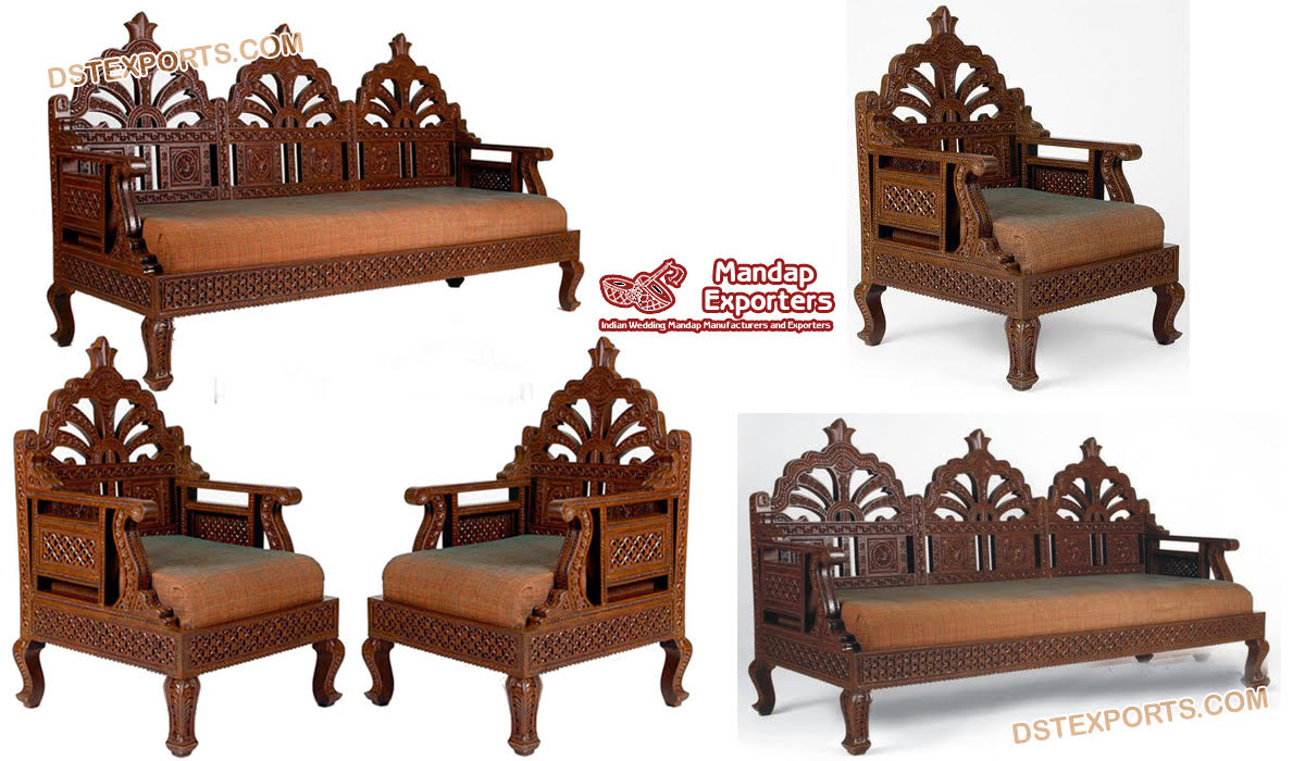 Silver Crown Antique Hand Carved Bed Mandap Exporters
