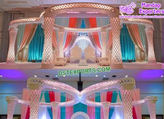 Hot Sale Luxury Crystal Wedding Mandap