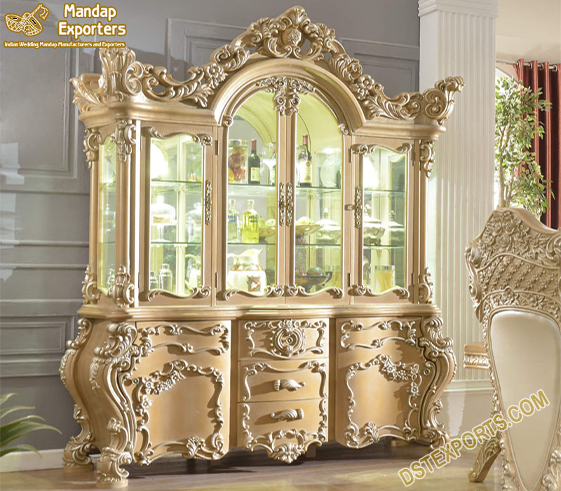 Royal King Style Wooden Almirah For Home Decor Mandap Exporters