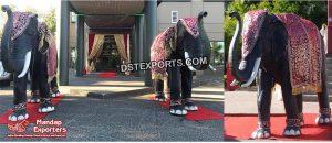 Royal Wedding Elephant Sculpture for Entrance