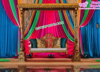 Sangeet Night Stage Swing For Bride Groom