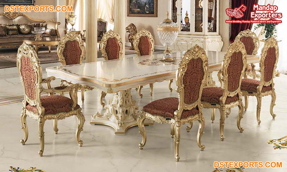 Classical Designed Royal Dining Table, Best Quality Dining Room Furniture Manufacturers