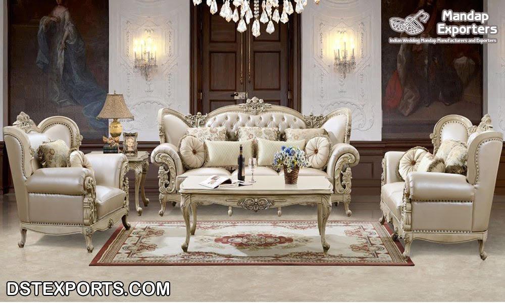 Italian Look Luxury Living Room Furniture Mandap Exporters